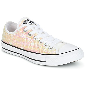 Chaussures Femme Baskets basses Converse CHUCK TAYLOR ALL STAR SEQUINS OX WHITE/BLACK/WHITE Blanc / Paillettes