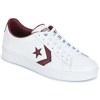 Chaussures Homme Baskets basses Converse PL 76 FOUNDATIONAL LEATHER WITH ELEVATED DETAILING OX WHITE/DEEP Blanc / Bordeaux