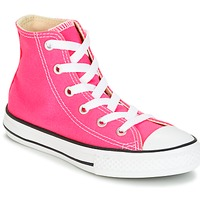 Chaussures Fille Baskets montantes Converse CHUCK TAYLOR ALL STAR SEASONAL HI PINK POW Rose