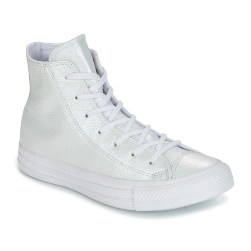 Converse CHUCK TAYLOR ALL STAR IRIDESCENT LEATHER HI valkoinen