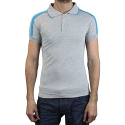 Vêtements Homme Polos manches courtes Kebello Polo LY7057 gris