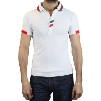 Vêtements Homme Polos manches courtes Kebello Polo LY7063 blanc