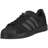 Chaussures Enfant Baskets basses adidas Originals Superstar Bounce J Graphite-Noir