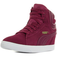 Chaussures Femme Baskets montantes Puma Vikky Wedge rouge