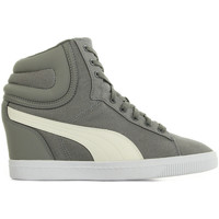 Chaussures Femme Baskets montantes Puma Vikky Wedge Canvas gris