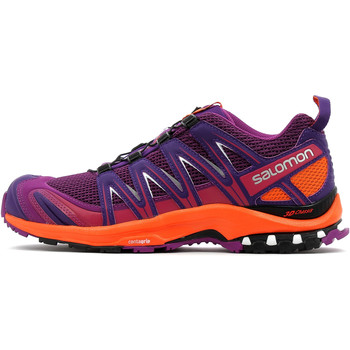 Chaussures Femme Running / trail Salomon XA Pro 3D W GRAPE JUICE/Flame/Acai