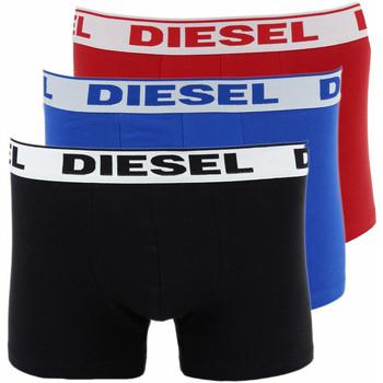 Vêtements Homme Boxers / Caleçons Diesel 3 Boxers  Umbx Shawn (Noir/Rouge/Bleu) Noir