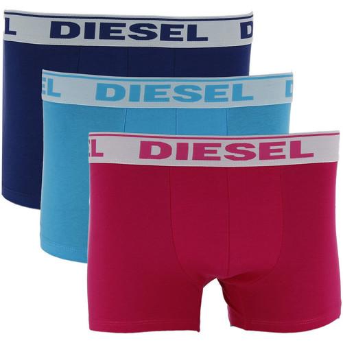 Vêtements Homme Boxers / Caleçons Diesel 3 Boxers  Umbx Shawn (Marine/Ciel/Fushia) Bleu