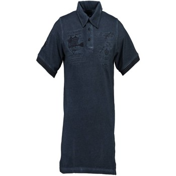 Vêtements Homme Polos manches courtes Geographical Norway KABUTO Polo avec les manches courtes  Homme bleu NAVY bleu NAVY
