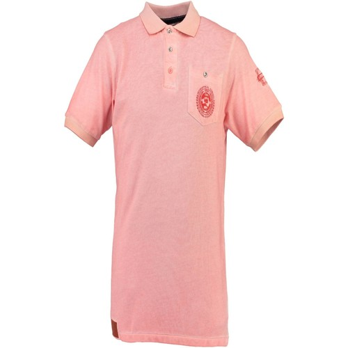 Vêtements Homme Polos manches courtes Geographical Norway KAUCUN rose CORAIL