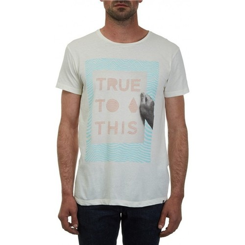 Vêtements Homme T-shirts manches courtes Volcom T-Shirt  True To This Lw - Egg White blanc