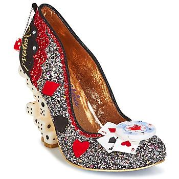 Chaussures Femme Escarpins Irregular Choice LAS VEGAS Argent / Noir