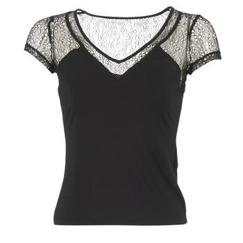 Vêtements Femme T-shirts manches courtes Morgan DSTAF Noir