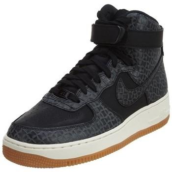 Chaussures Femme Baskets montantes Nike WMNS AIR FORCE1 Noir