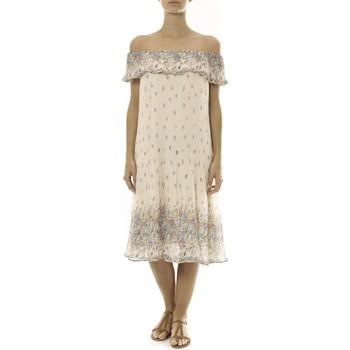 Robe By La Vitrine Robe Beige Care of you Imprimée Fleurs F50134