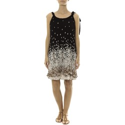Vêtements Femme Robes courtes By La Vitrine Robe Noir Care of you Imprimée Fleurs F50113 Noir