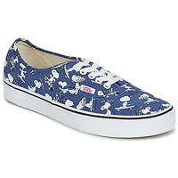 Chaussures Baskets basses Vans AUTHENTIC SNOOPY Bleu / Blanc