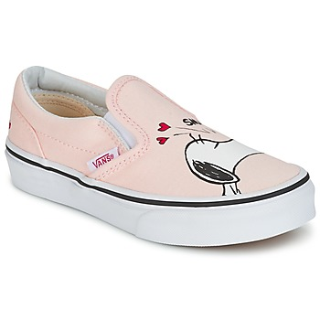 Chaussures Fille Slips on Vans TD CLASSIC SLIP-ON SNOOPY Rose