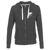 Vêtements Femme Sweats Nike GYM VINTAGE FZ Gris