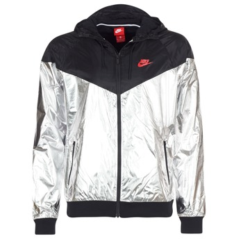 Vêtements Homme Coupes vent Nike WINDRUNNER METALLIC Noir / Argent