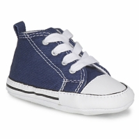 Chaussures Enfant Chaussons bébés Converse FIRST STAR TOILE MARINE
