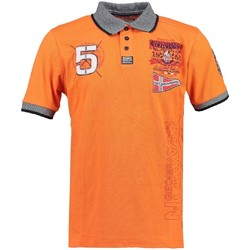 Vêtements Garçon Polos manches courtes Geographical Norway Polo Enfant Kantibe Orange