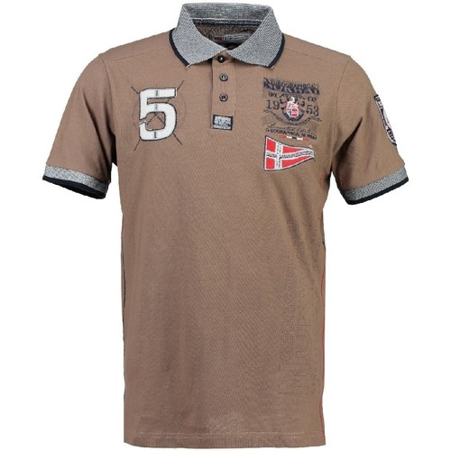 Vêtements Garçon Polos manches courtes Geographical Norway Polo Enfant Kantibe Taupe