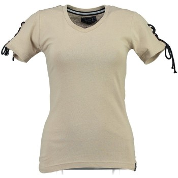 Vêtements Femme T-shirts manches courtes Geographical Norway T-shirt Femme Jeline cassà© Blanc