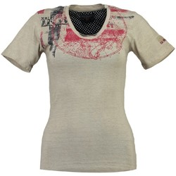 Vêtements Femme T-shirts manches courtes Geographical Norway T-shirt Femme Jasmine Beige