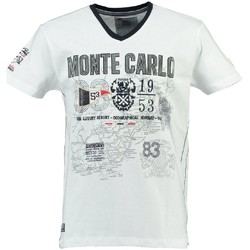 Vêtements Homme T-shirts manches courtes Geographical Norway T-shirt Homme Jeliroubia Blanc