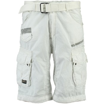 Vêtements Homme Shorts / Bermudas Geographical Norway Bermuda Homme Parasol Blanc