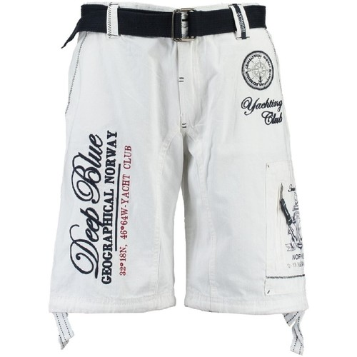 Vêtements Homme Shorts / Bermudas Geographical Norway Bermuda Homme Pallancre Blanc