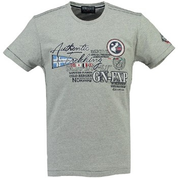 Vêtements Homme T-shirts manches courtes Geographical Norway T-shirt Homme Jerusalem Gris