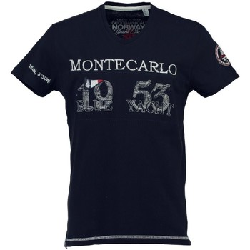 Vêtements Homme T-shirts manches courtes Geographical Norway T-shirt Homme Jajao Marine