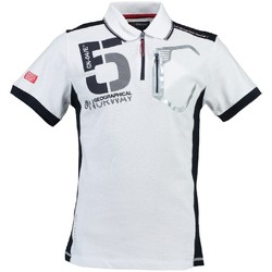 Vêtements Homme Polos manches courtes Geographical Norway Polo Homme Krouviar Blanc