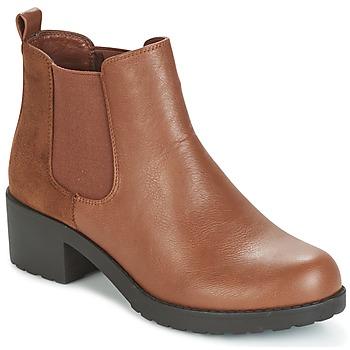 Chaussures Femme Bottines Moony Mood HOLOVILA Camel