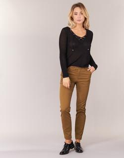 Vêtements Femme Pantalons 5 poches Les P'tites Bombes CHINAI Cognac