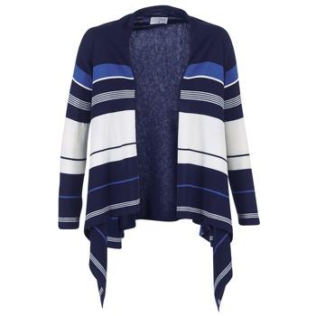Vêtements Femme Gilets / Cardigans Casual Attitude HARINE Marine / Blanc