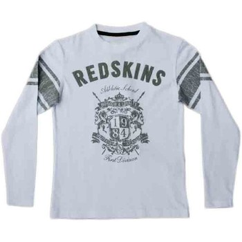 Vêtements Garçon T-shirts manches longues Redskins T-Shirt Enfant  Grant Blanc Blanc