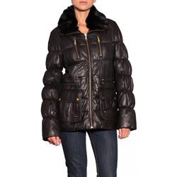 Vêtements Femme Blousons Redskins Parka Longue Cuir Eskimo Femme Noir