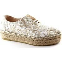 Chaussures Femme Espadrilles Espadrilles EDO chaussures crème crue lacets corde de plate-forme Beige