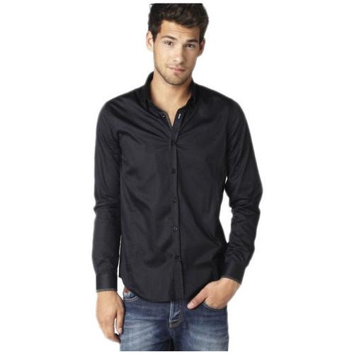 Vêtements Homme Chemises manches longues Joe Retro CHEMISE HOMME Manches Longues  SELYA Noir