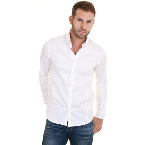 Vêtements Homme Chemises manches longues Joe Retro Chemise  Swan Blanc Homme