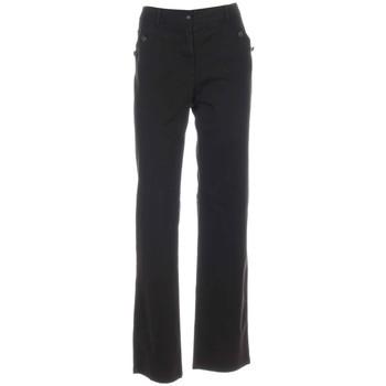 Vêtements Femme Pantalons Fleur De Sel Pantalon Pylom Chocolat Femme Noir