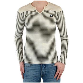 Vêtements Homme T-shirts manches longues Joe Retro T-SHIRT  Manches longues Ecru