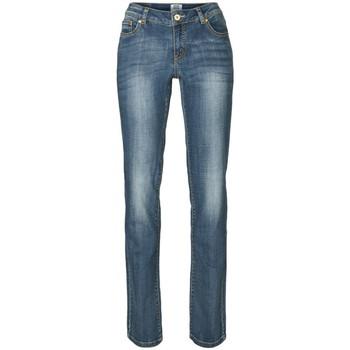Vêtements Femme Jeans droit Vero Moda JEANS ROSE LW MED BLUE Femme