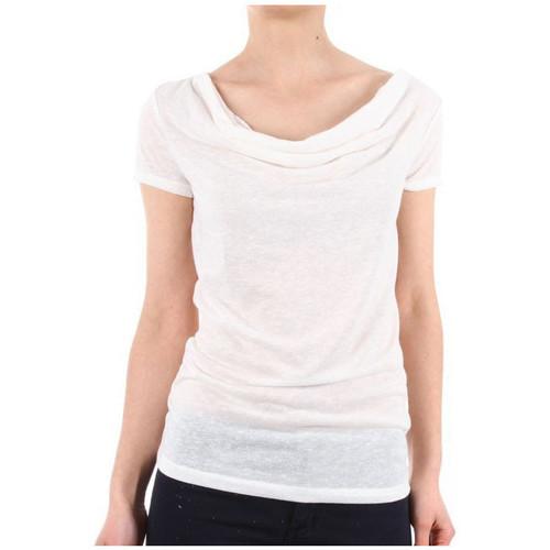 Vêtements Femme Polos manches courtes Vero Moda T SHIRT Femme NOVEMBER WATERFALL BLANC