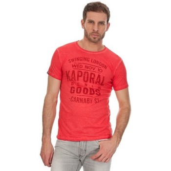 Vêtements Homme T-shirts manches courtes Kaporal T-SHIRT Homme NABY ROUGE 8