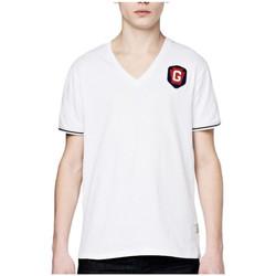 Vêtements Homme T-shirts manches courtes G-Star Raw T-Shirt Homme Porter Col V Blanc Blanc