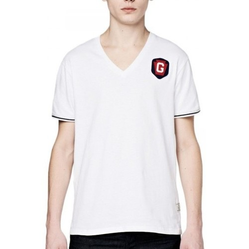 Vêtements Homme T-shirts manches courtes G-Star Raw T-Shirt Homme Porter Col V Blanc